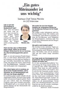 15-07-30 LVZ Interview ein gutes Miteinander Tobias Merckle