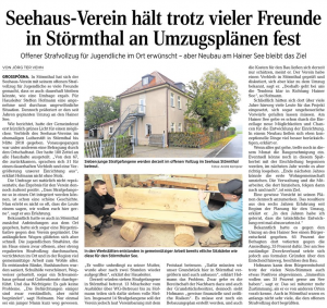 15-11-04 LVZ Seehaus hält am Hainer See fest