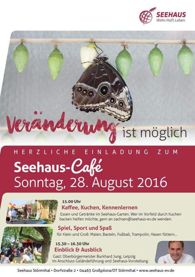 Seehaus-Café - mit Interviewgast Burkhard Jung (OBM Leipzig) @ Garten Seehaus Störmthal | Grosspösna | Sachsen | Deutschland