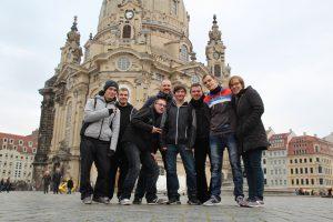...und Gruppenbild vor der Frauenkirche.