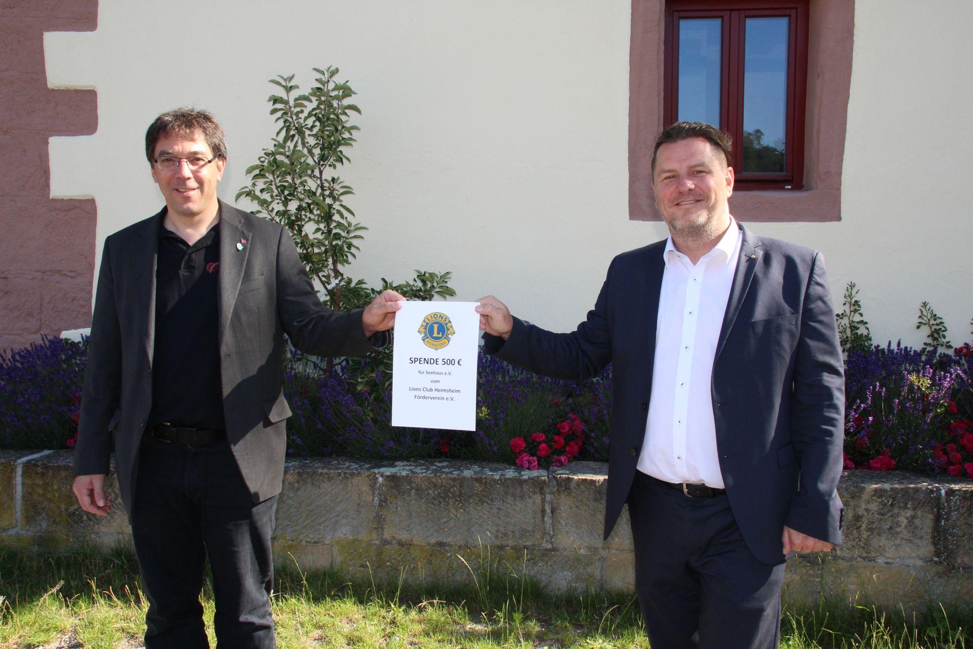 Spendenübergabe Lions Club Heimsheim